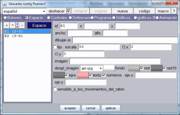 Editor de configuración de escenas