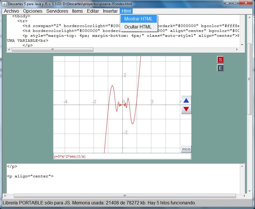 Mostrar el código HTML en el gestor