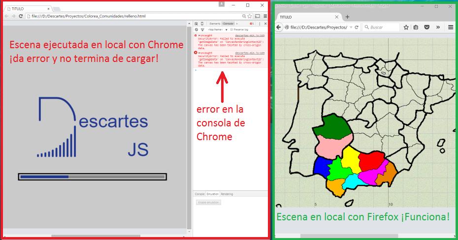 Error en Chrome