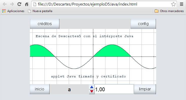 Escena Descartes5 en Java