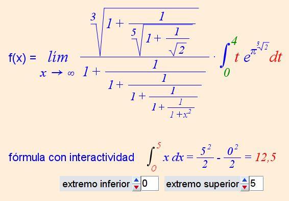 Edición de fórmulas con Descartes