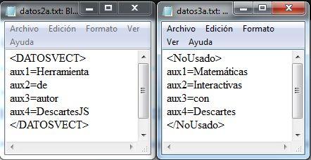 datos2a.txt y datos3a.txt