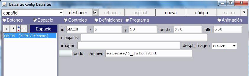 Parámetros de espacios HTMLIframe