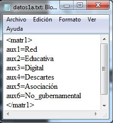 fichero datos1a.txt